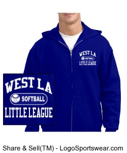 Hoodie - Softball Design Zoom